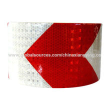 Red and White Arrow 10cm Width Reflective Tape for Traffic Safety
